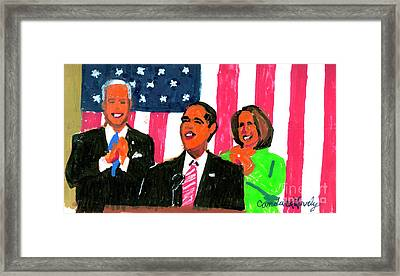 Obama's State Of The Union '10 Framed Print by Candace Lovely