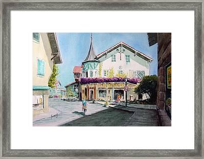 Oberammergau Street Framed Print by Sam Sidders
