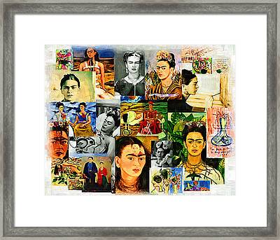 Obsessed With Frida Kahlo Framed Print by Madalena Lobao-Tello