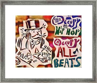 Occupy All Beats Framed Print by Tony B Conscious