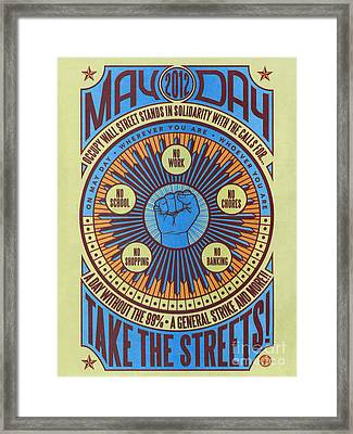 Occupy Wall Street, 2012 Framed Print by Granger