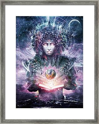 Ocean Atlas Framed Print by Cameron Gray