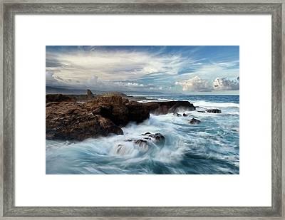 Ocean Brushes Framed Print by Kieran OConnor