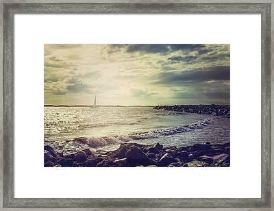 Ocean Framed Print by Cindy Grundsten