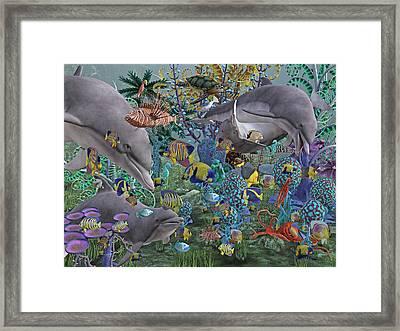 Ocean Circus Framed Print by Betsy Knapp