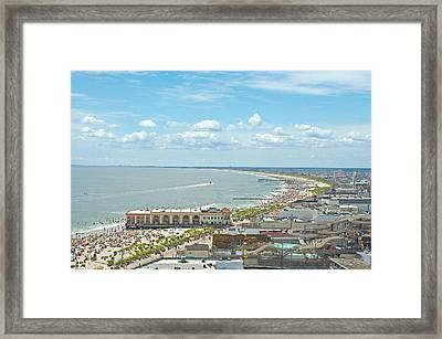 Ocean City High Framed Print by Don Mennig