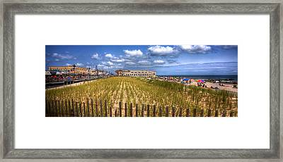 Ocean City Panorama Framed Print by John Loreaux