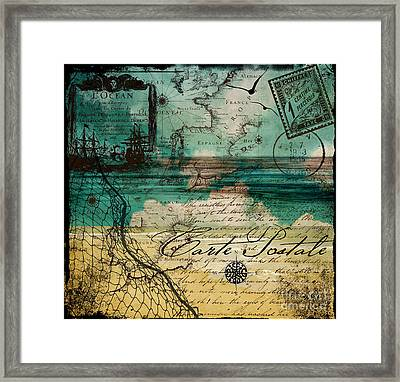 Ocean Clouds Framed Print by Mindy Sommers