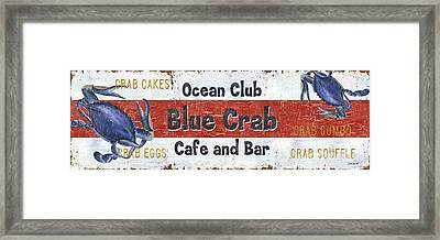 Ocean Club Cafe Framed Print by Debbie DeWitt