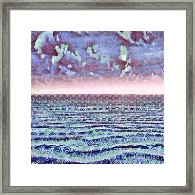 Ocean Fantasy - Abstract Painting Framed Print by Edward Fielding