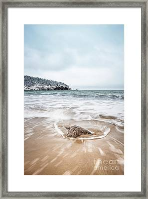 Ocean Flows Framed Print by Evelina Kremsdorf