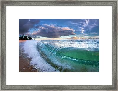 Ocean Fold Framed Print by Sean Davey