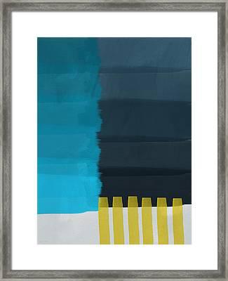 Ocean Front Walk- Art By Linda Woods Framed Print by Linda Woods