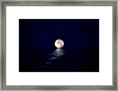 Ocean Moon Framed Print by Bill Cannon