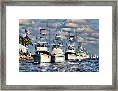 Ocean Reef Framed Print by Carey Chen