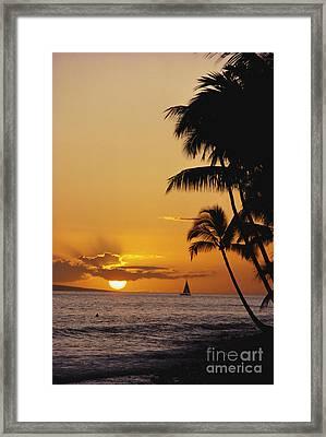 Ocean Sunset Framed Print by Erik Aeder - Printscapes