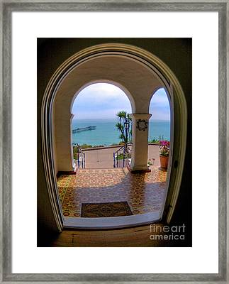 Ocean View Framed Print by Kim Michaels