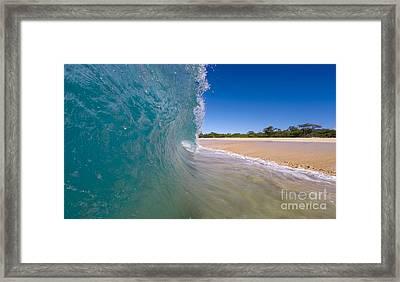 Ocean Wave Barrel Framed Print by Dustin K Ryan