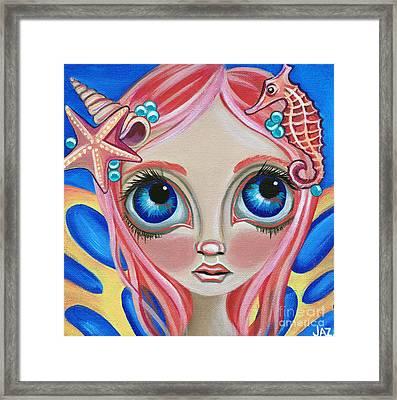 Oceanic Fairy Framed Print by Jaz Higgins