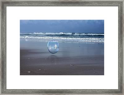 Oceanic Sphere  Framed Print by Betsy Knapp