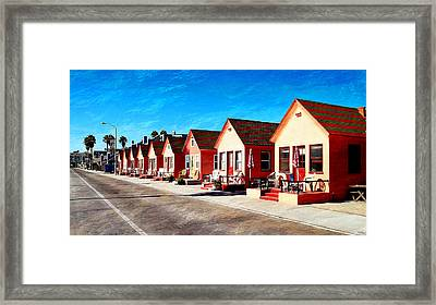 Oceanside Beach Cottages Framed Print by Glenn McCarthy Art and Photography