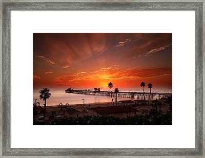 Oceanside Sunset 9 Framed Print by Larry Marshall