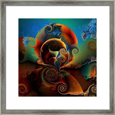 Ocf 423 Luminous Framed Print by Claude McCoy