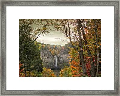 October At Taughannock Framed Print by Jessica Jenney