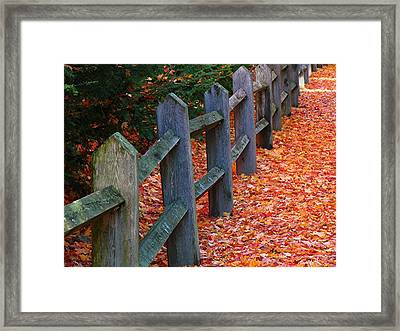 October Light Framed Print by Juergen Roth