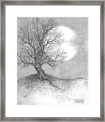 October Moon Framed Print by Adam Zebediah Joseph