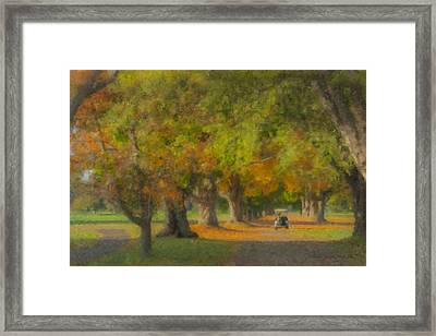 October Morning At Easton Country Club Framed Print by Bill McEntee