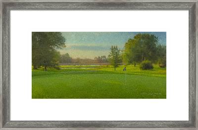 October Morning Golf Framed Print by Bill McEntee