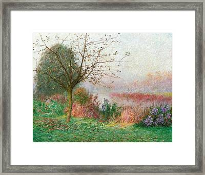 October Morning On The River Lys Framed Print by Emile Claus
