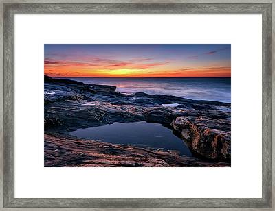 October Sky At Pemaquid Point Framed Print by Rick Berk