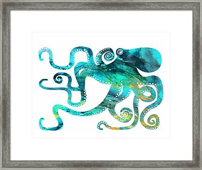 Octopus 2 Framed Print by Donny Art