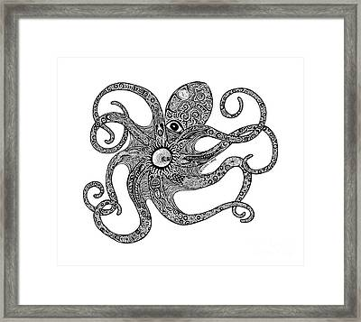 Octopus Framed Print by Carol Lynne