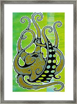 Octopus Framed Print by John Benko