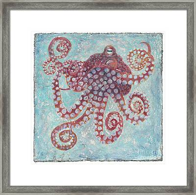 Octopus On Plaster Framed Print by Danielle Perry