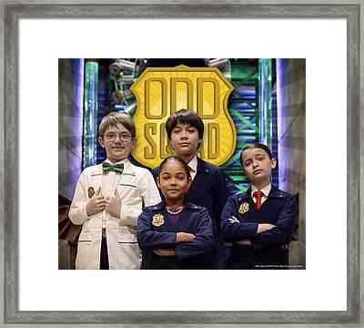 Odd Squad - Oscar, Ms.o, Otto, Olive Framed Print by Odd Squad