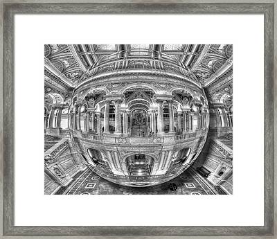 Ode To Mc Escher Library Of Congress Orb Horrizontal Framed Print by Tony Rubino