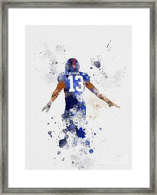 Odell Beckham Jr Framed Print by Rebecca Jenkins