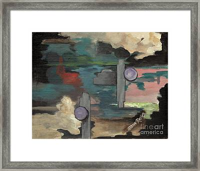 Off Balance Framed Print by Rosine Smith