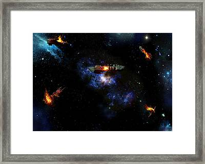 Off The Shoulder Of Orion Framed Print by Joseph Soiza