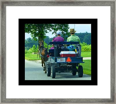 Off To A Picnic Framed Print by Tina M Wenger
