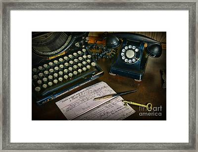 Office Essentials Framed Print by Paul Ward