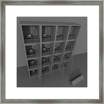 Office Seven Framed Print by Rolf Bertram