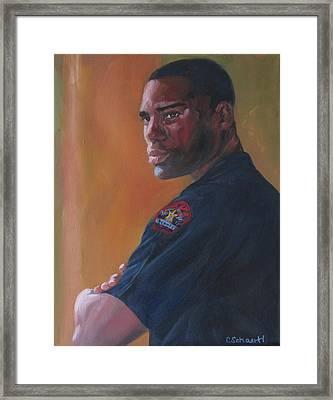 Officer Framed Print by Connie Schaertl