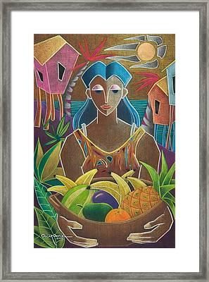 Ofrendas De Mi Tierra Framed Print by Oscar Ortiz