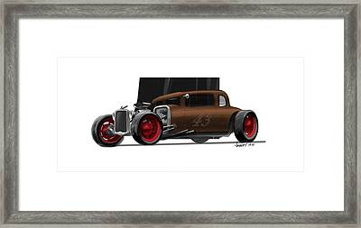 Og Hot Rod Framed Print by Jeremy Lacy