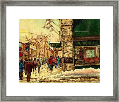 Ogilvys Department Store Downtown Montreal Framed Print by Carole Spandau